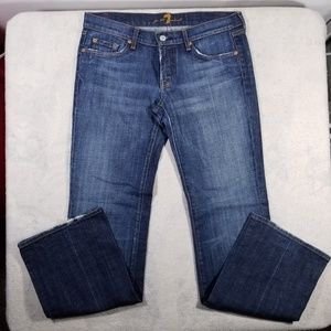 7 For All Mankind Size 30 Blue Denim Bootcut Jeans